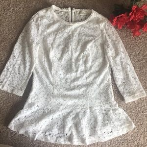 Lace full-sleeve Top